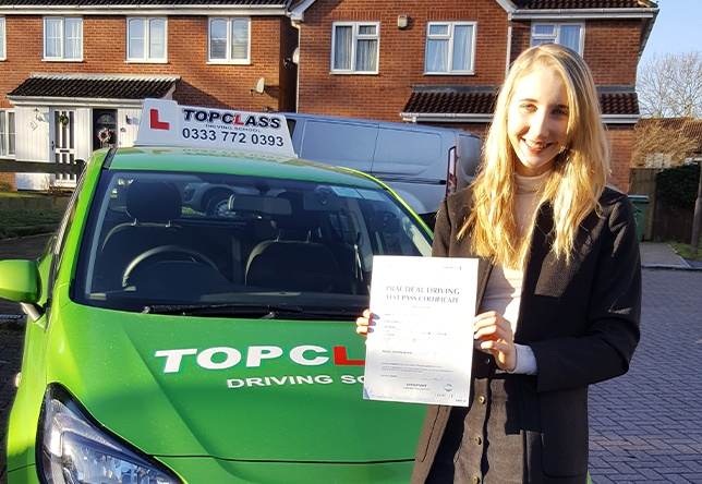 Driving Lesson Test Pass in Chatham - Victoria Bird