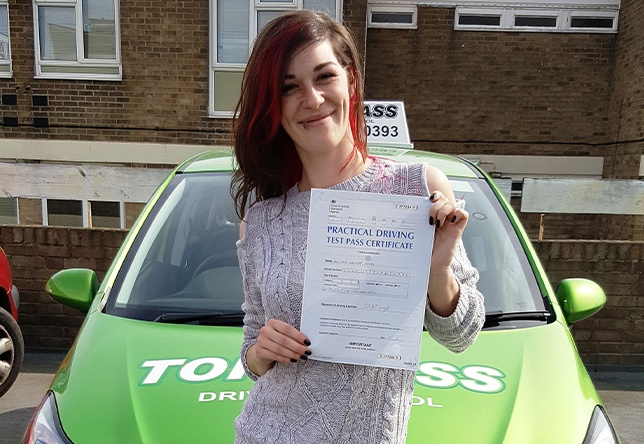 Driving Lesson Test Pass in Gillingham - Emily Howes