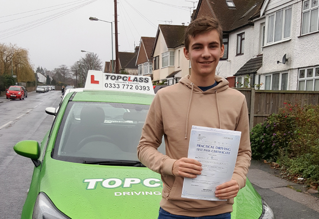 Driving Lesson Test Pass in Gillingham – Brandon Hawkes