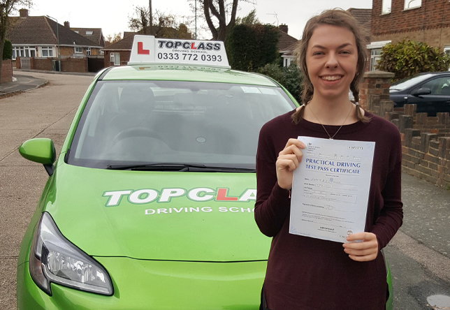 Driving Lesson Test Pass in Gillingham – Victoria Cresswell