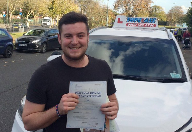 Driving Lesson Test Pass in Gravesend – Craig White