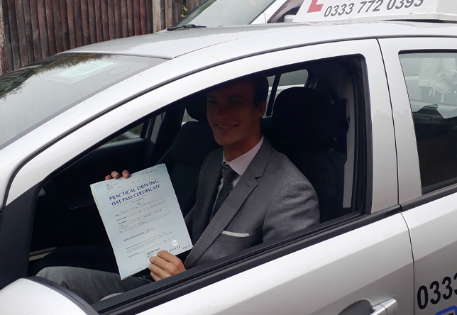 Driving Lesson Test Pass in Maidstone – James Warmington