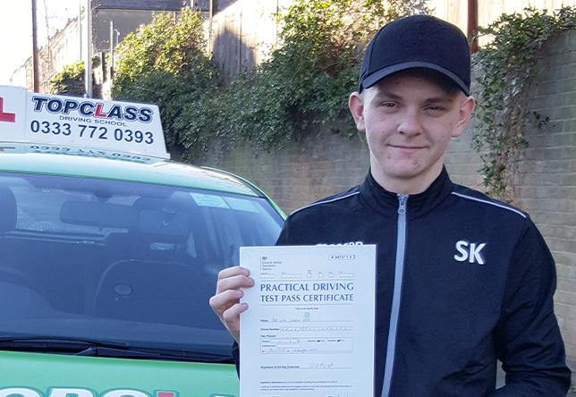 Driving Lesson Test Pass in Chatham - Levi Keat