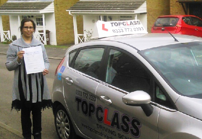 Driving Lesson Test Pass in Gillingham – Iram Javed