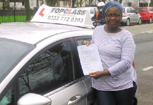 Driving Lesson Test Pass in Gillingham – Rashidat Jimoh Gillingham