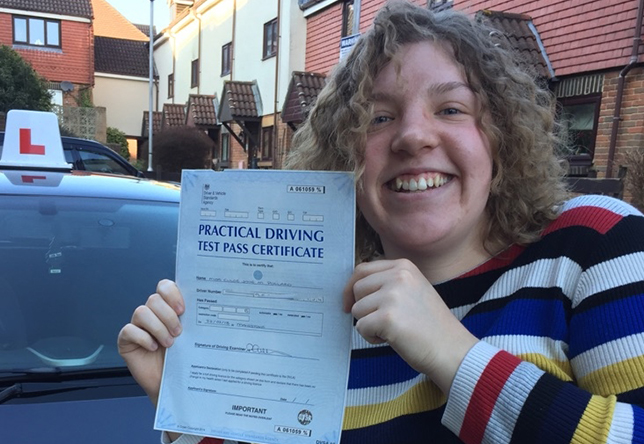 Driving Lesson Test Pass in Maidstone - Chloe