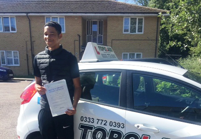 Driving Lesson Test Pass in Rochester - Aden Harding