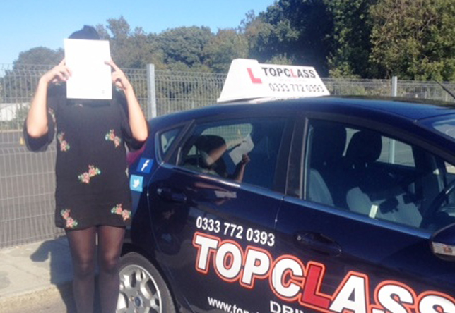 Driving Lesson Test Pass in Gillingham - Kirstie