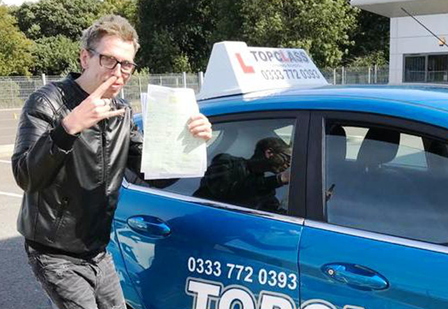 Driving Lesson Test Pass in Gillingham - Liam Gallagher