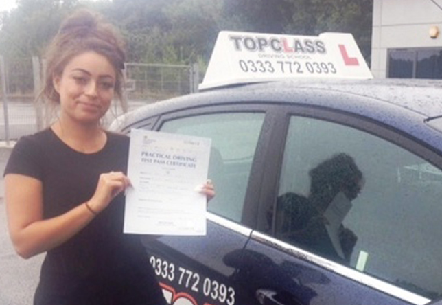 Driving Lesson Test Pass in Chatham - Sian