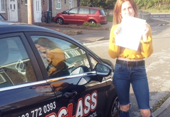 Driving Lesson Test Pass in Sittingbourne – Keeley Town