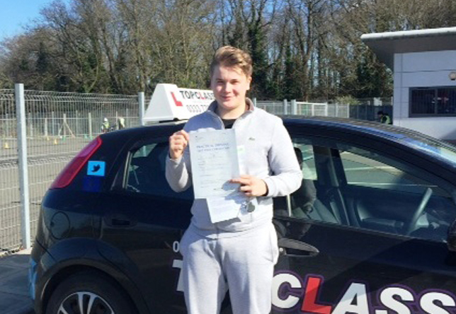 Driving Lesson Test Pass in Strood - Joseph Fellows