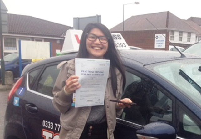 Driving Lesson Test Pass in Gillingham Jessa Enriquez