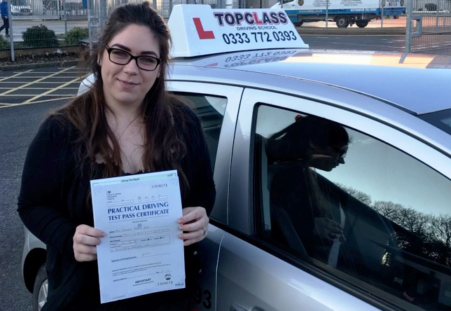 Driving Lesson Test Pass in Gillingham Scarlet Martin