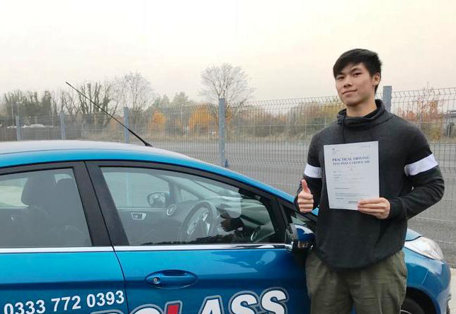 Driving Lesson Test Pass in Gillingham Marcus Fung